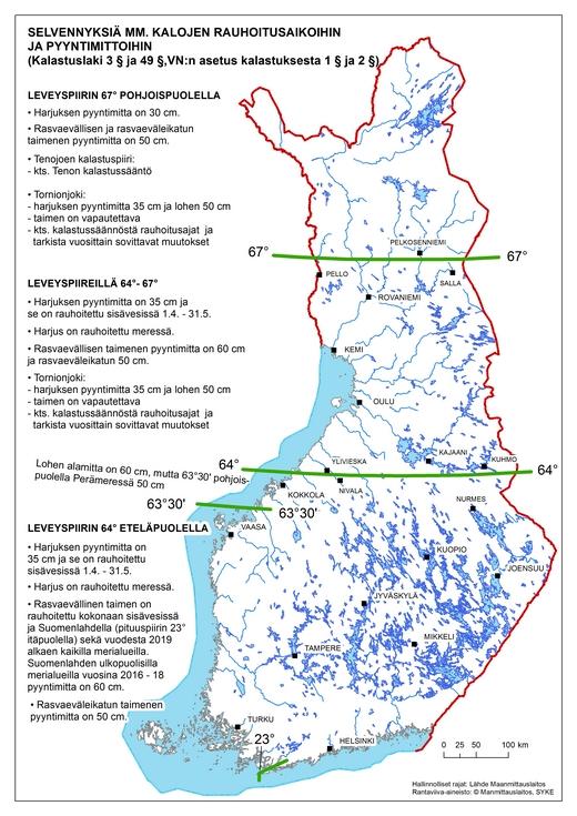 Kalojen Pyyntirajoitukset Svk Suomen Vapaa Ajankalastajien