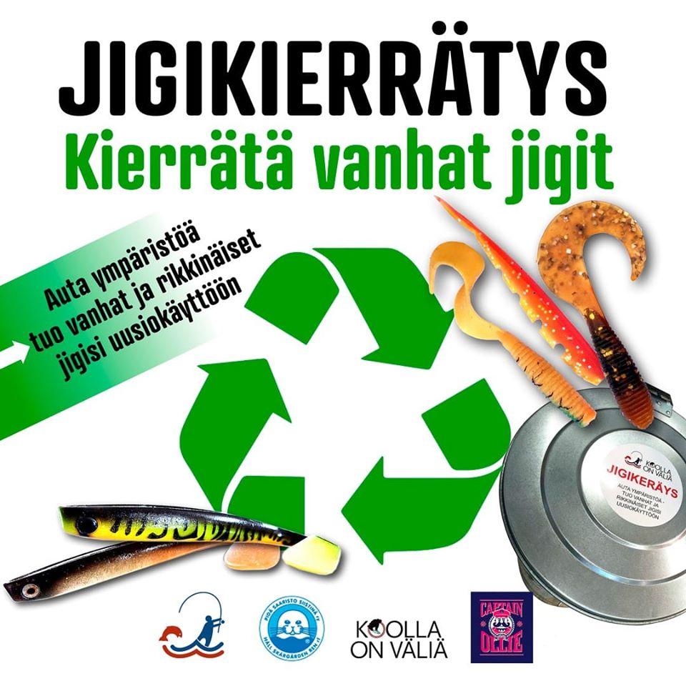 Jigikierrätys Soft lure recycling