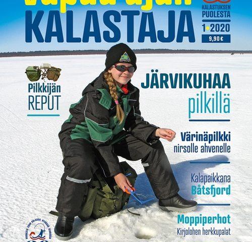Vapaa-ajan Kalastaja-lehden kansi 1/2020